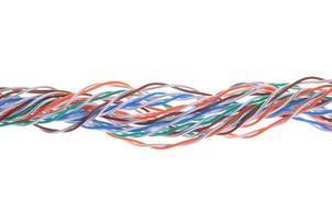 cabos de computador de rede multicoloridos foto
