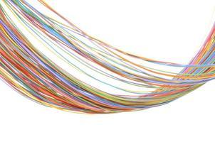 cabo de computador multicolorido foto
