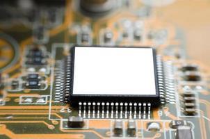 placa de circuito do micro chipset do computador foto