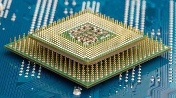 processadores de computador em circuito elétrico foto