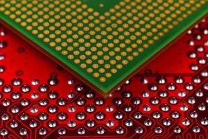 chip de cpu do computador foto