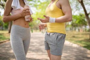 casal de fitness foto