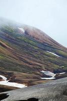 paisagem islandesa fria - laugavegur, islândia