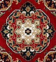 fundo de tapete persa oriental vermelho foto