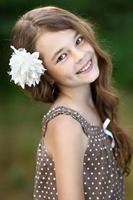 retrato de uma linda garotinha