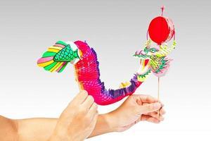 fantoche de dragão de papel