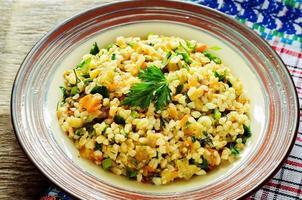 bulgur com berinjela e verduras