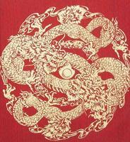 dragão abstrato em seda foto