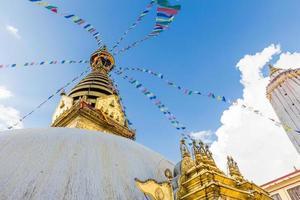 templo swayambhunath, templo do macaco kathmandu, nepal.