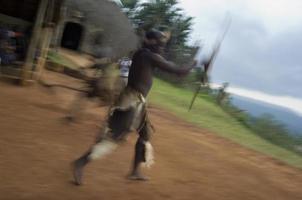 dançarinos zulu foto