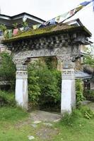 pinturas no mosteiro budista em sikkim, maio de 2009, Índia