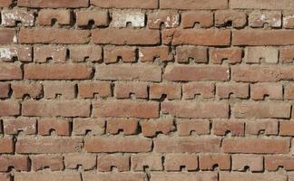 alvenaria de parede de tijolo foto