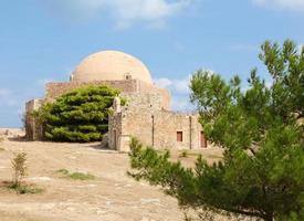 fortezza veneziano ou cidadela em rethymno, creta, grécia foto