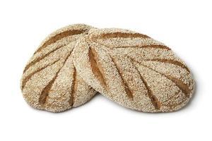 pão de sêmola marroquina fresca foto