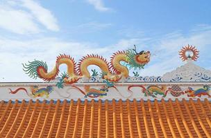 telhado de estilo chinês tradicional foto