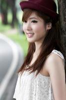 linda menina asiática
