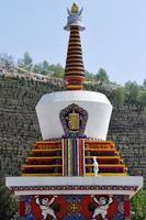 pagode do budismo tibetano foto