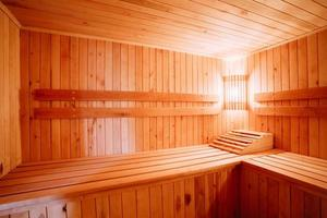 interior da sauna foto