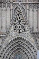 catedral gótica em barcelona foto