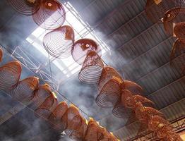 incenso de bobina de enterramento chinês foto