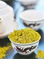 chá verde matcha foto