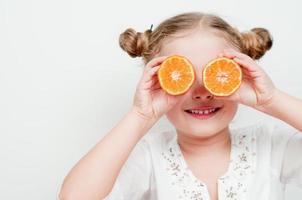 frutas suculentas mandarim foto