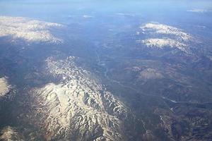 montanhas do Cáucaso (vista do avião).