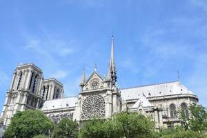 Notre Dame do barco no Sena foto