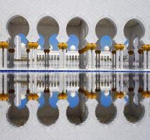 mesquita sheikh zayed em abu dhabi, emirados árabes unidos foto