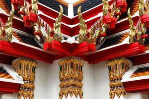 elementos decorativos de um templo budista foto