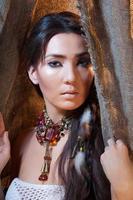 beleza do índio americano foto