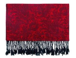 cachecol de cashmere padrão paisley foto
