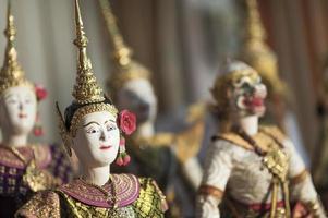fantoche tradicional tailandês foto