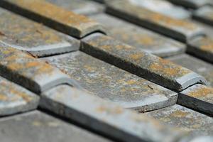 telhado de telha japonesa foto
