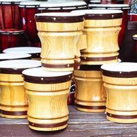 bongos de madeira