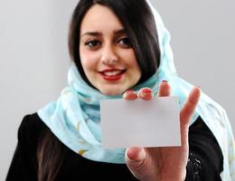 retrato de mulher do oriente médio foto