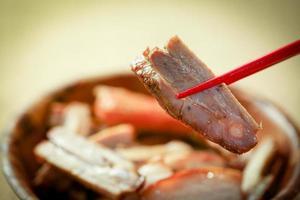 porco frito chinês foto