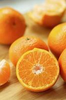 tangerinas frescas foto