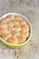 pães com semente de linho foto