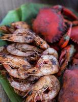frutos do mar churrasco foto