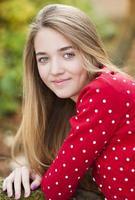 menina sorridente foto