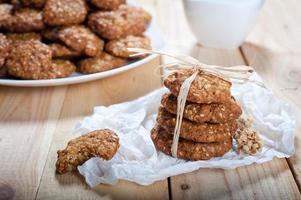 dieta e biscoitos de muesli saudáveis