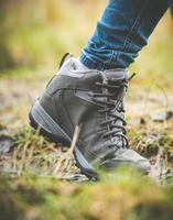 sapatos em uma floresta foto