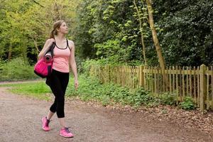 mulher de fitness foto