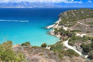 Baía de Mirabello na ilha de Creta na Grécia