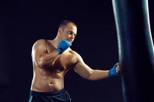 jovem boxeador boxe foto