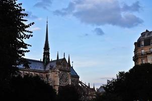 Catedral de Notre Dame em Paris, França. foto