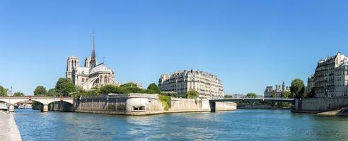 panorama de paris notre dame foto