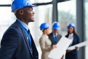 trabalhador da construção civil americano africano foto