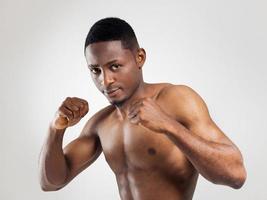 jovem boxeador americano africano foto